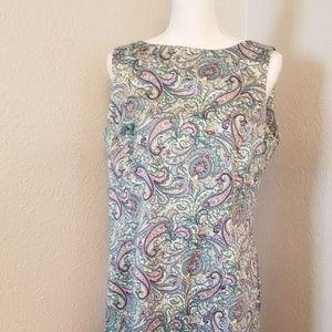 Talbots Multi Color Dress Sz 12